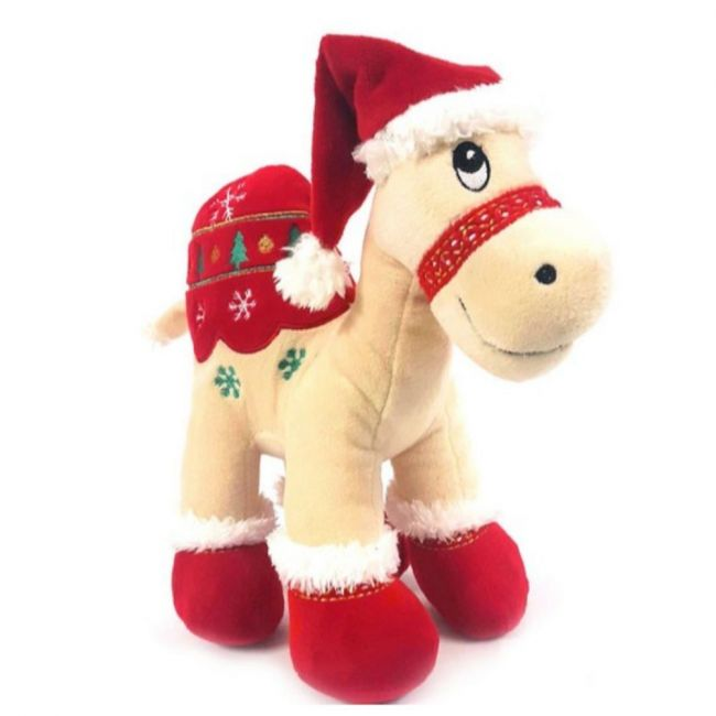 Caravaan Christmas Camel with Santa Hat - Size 25Cm