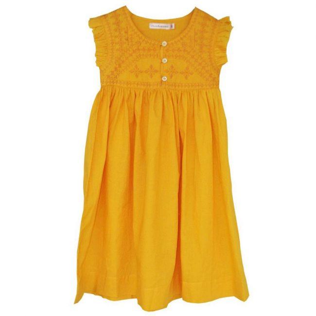 Chandamama Kids Kim Mango Yellow Dress