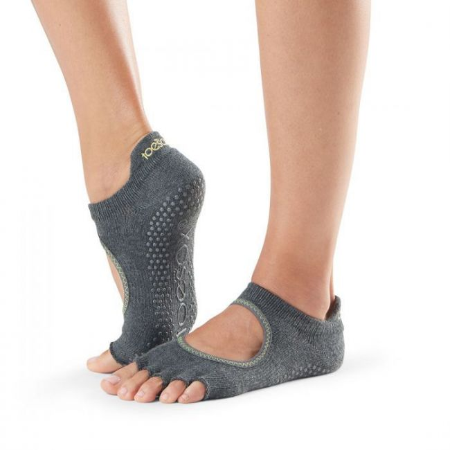 Toesox Bellarina Half Toe Sport Socks Heather Grey - Small