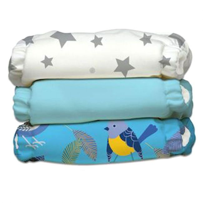 Charlie Banana 3 Diapers 6 Inserts Little Twitter Ii One Size Hybrid Aio