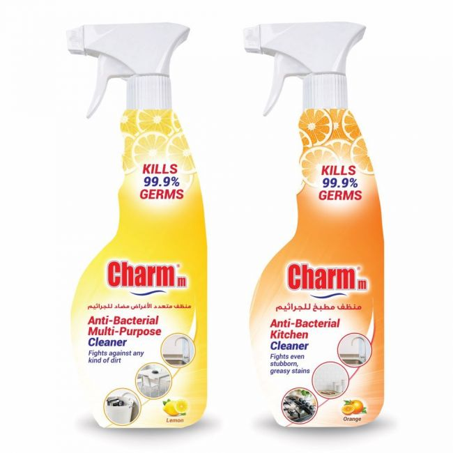 Charmm - Anti-Bacterial Multi-Purpose Plus Charmm Anti-Bacterial Kitchen Cleaner-Pack of 2