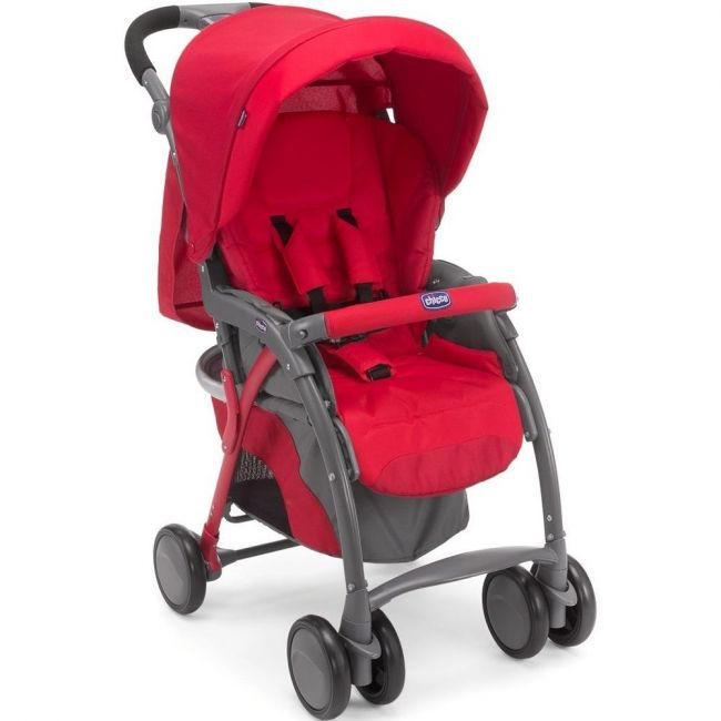 Chicco Simplicity Complete Stroller 0m+, Scarlet
