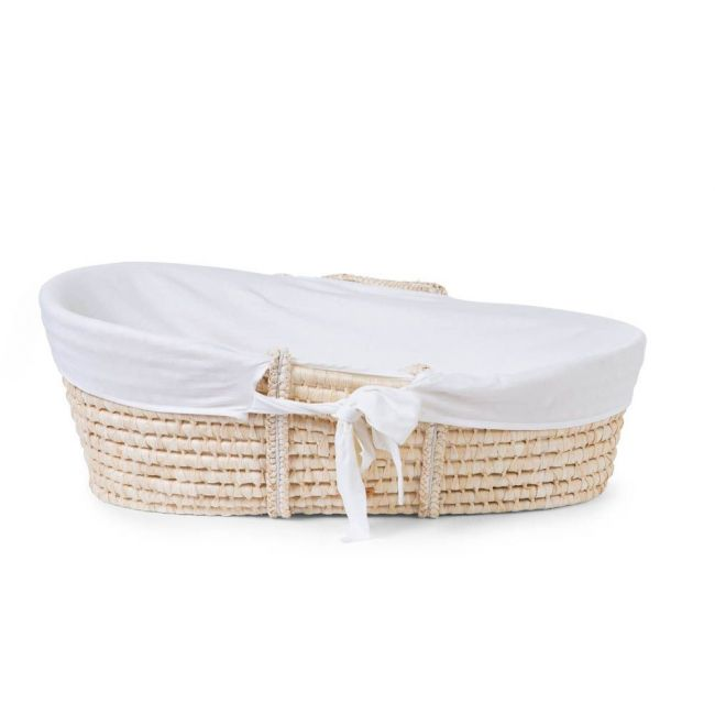 ChildHome - Moses Basket Cover -  Jersey Off White