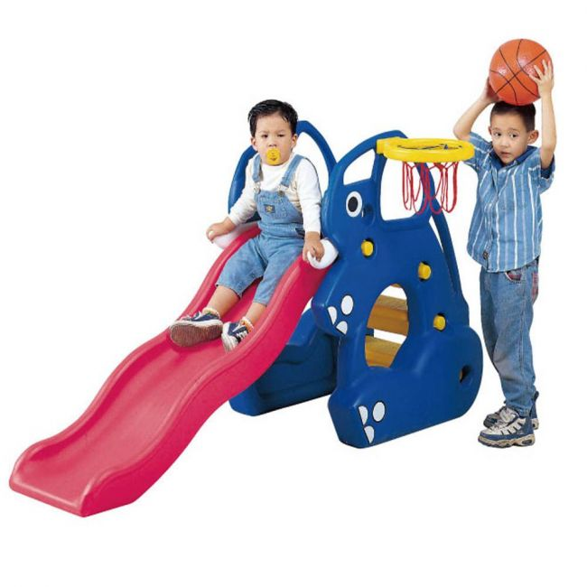 Ching Ching - Elephant Slider + Basketball Set - Blue
