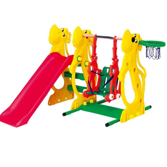 Ching Ching - Hippo Slide & Swing With Rabbit
