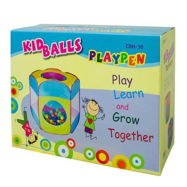 Ching Ching - Kid Playpen W/ 100pcs Balls-Blue & Pink