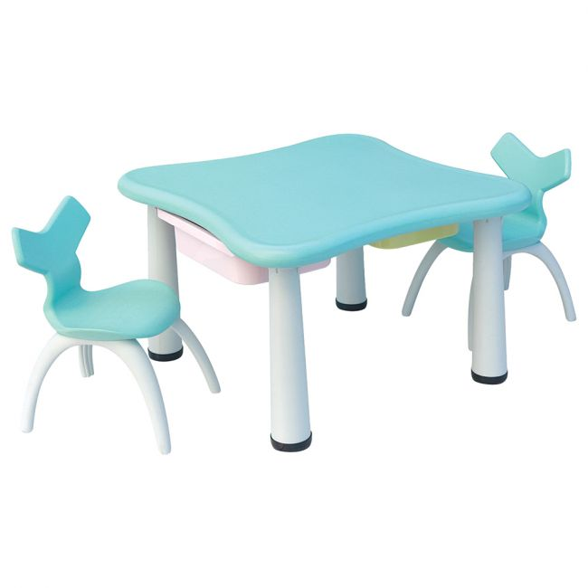 Ching Ching - Table and 2 Chairs - Blue