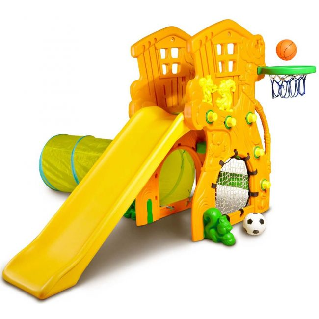 Ching Ching - Tree House Slide With Basketball & Football Set
