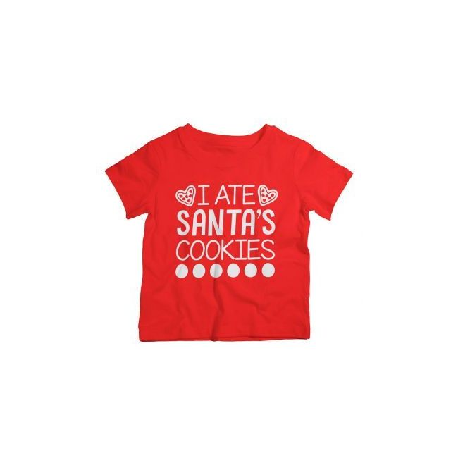 Twinkle Hands - I Ate Santa's Cookies - Christmas T-shirt - Red