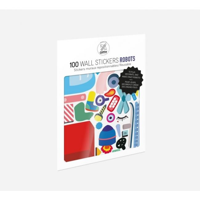 Omy, Set Of 100 Wall Stickers - Robot