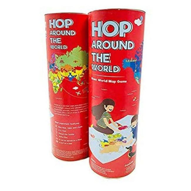 Cocomoco kids - Hop around the world - Giant World Map Game