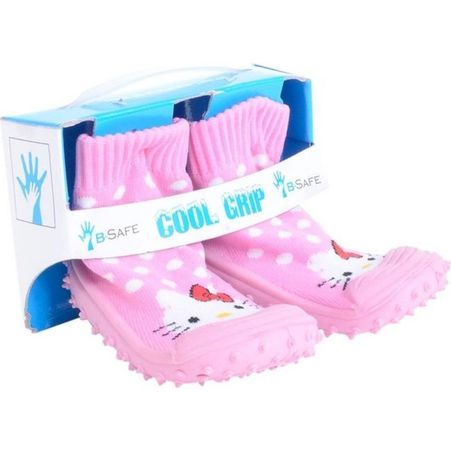 Cool Grip Pink Baby Shoe Socks Hello Kitty