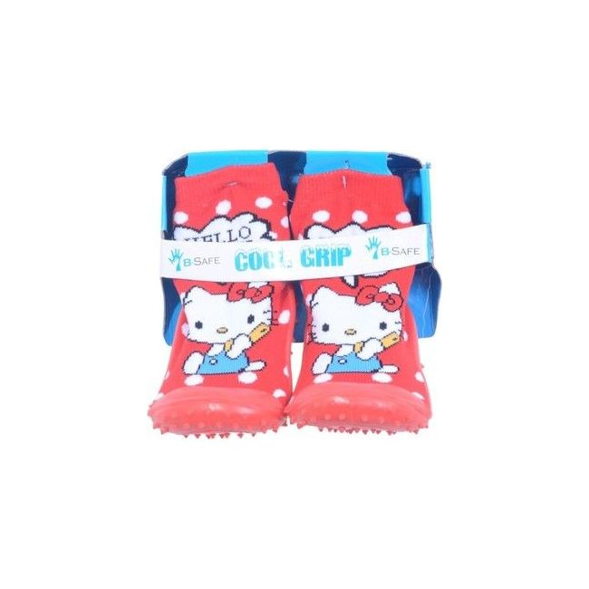 Cool Grip Red Baby Shoe Socks Hello Kitty