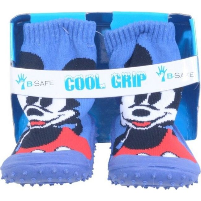 Cool Grip Blue Baby Shoe Socks Mickey Mouse