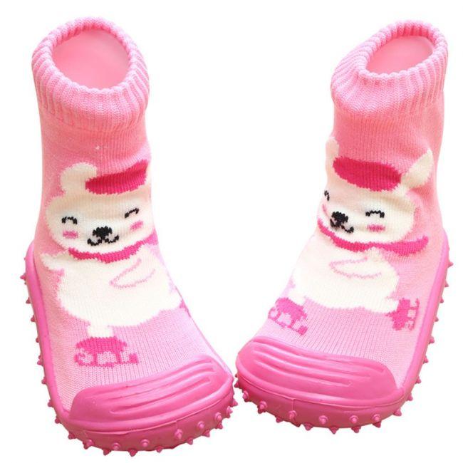 COOL GRIP Baby Shoe Socks Skating Bear
