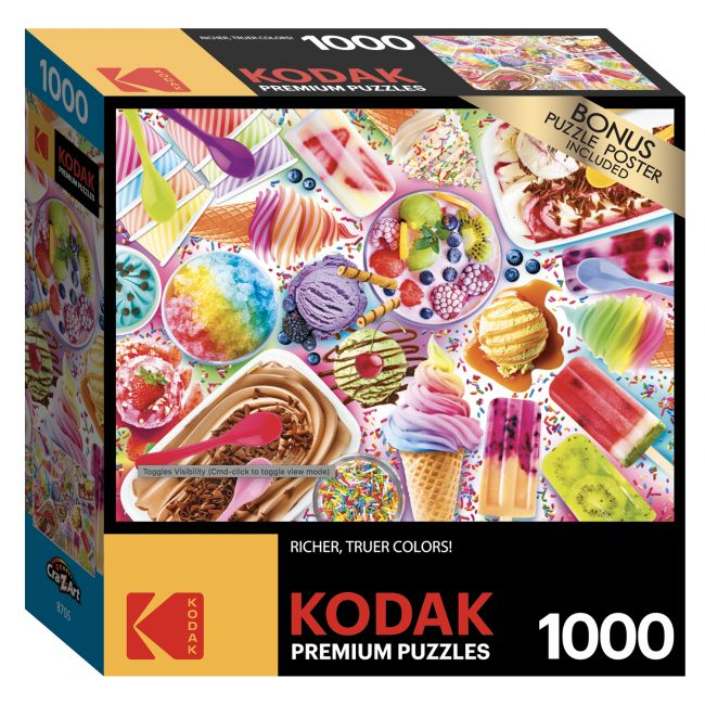 Cra-Z-Art - Kodak 1000 Pieces Puzzle Asst. Summer Freeze