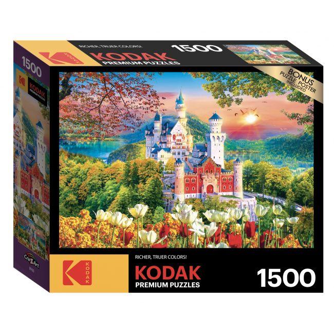 Cra-Z-Art - Kodak 1500 Pieces Puzzle Asst. Famous Neuschwanstein Medieval Castle, Germany