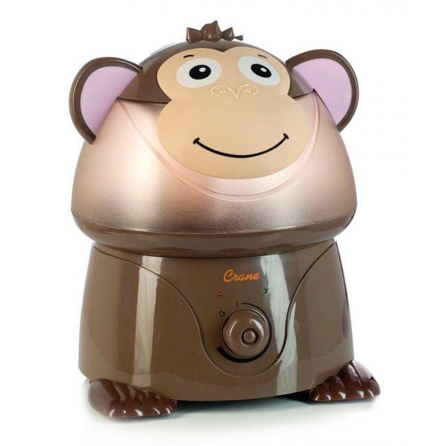 Crane Brown Adorable Ultrasonic Cool Mist Humidifier Mya the Monkey