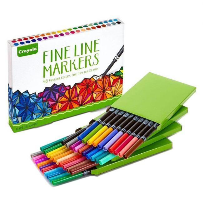 Crayola - . Assorted Fine Line 40 Count