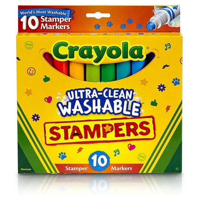 Crayola - 10 Ct. Ultra Clean Washable Emoji Markers