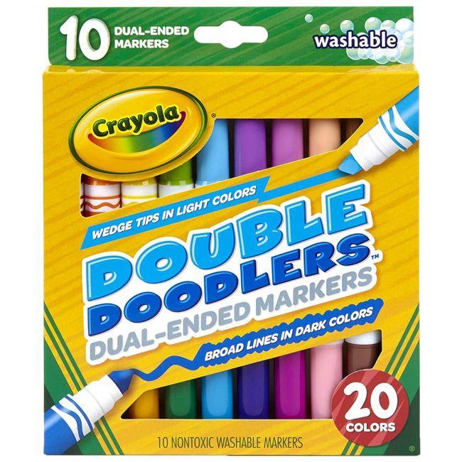 Crayola - 10 Ct. Washable Double Doodlers