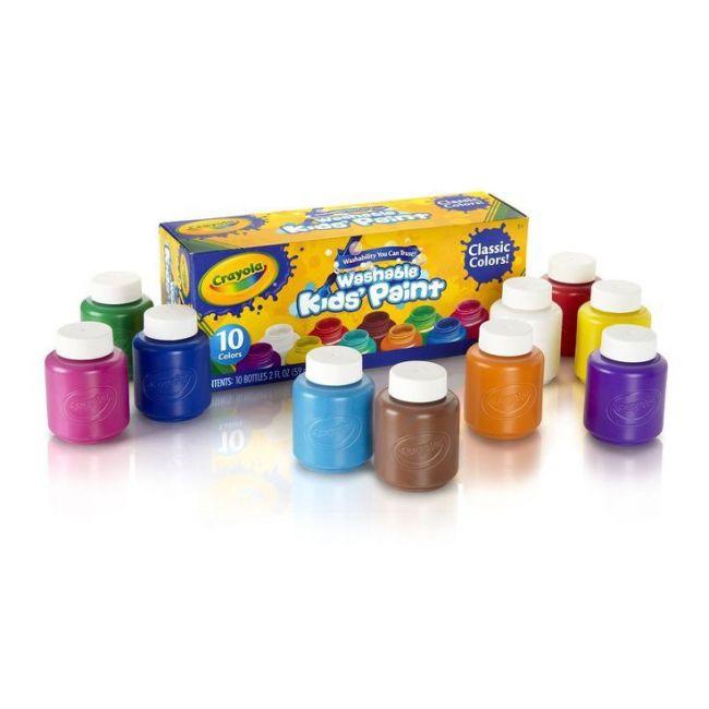 Crayola - 10 Washable Paint Bottles