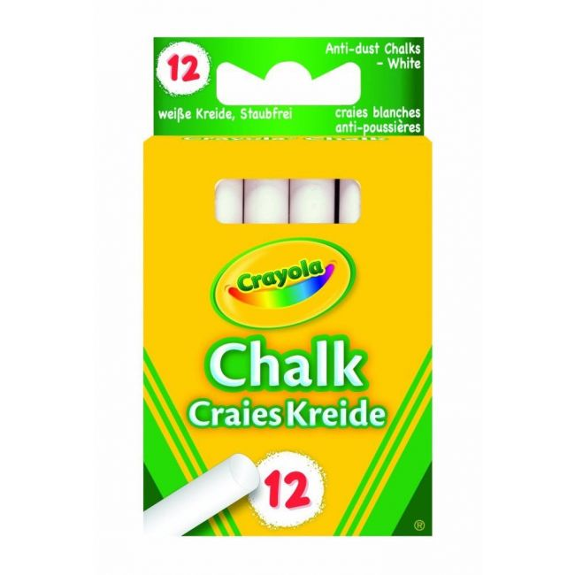 Crayola - 12 Anti Dust Chalks White