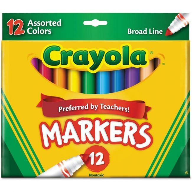 Crayola - 12 Broad Line Markers Assorted