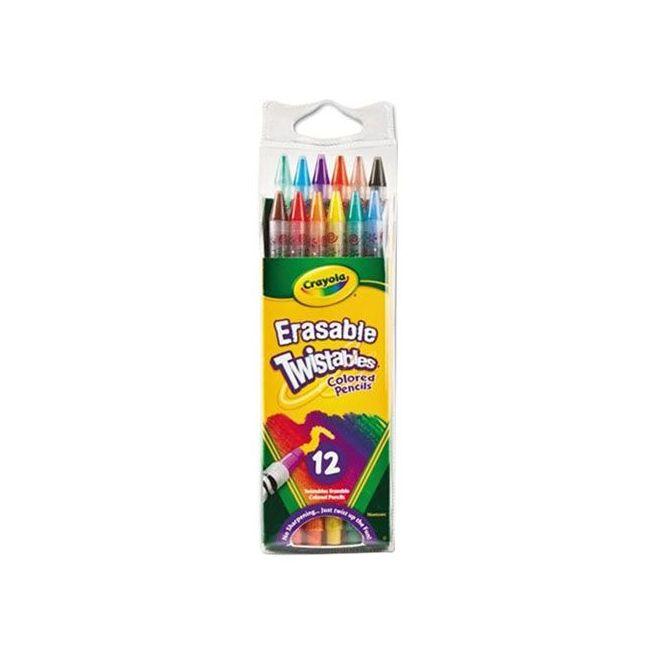 Crayola - 12 Erasable Twistable Pencils