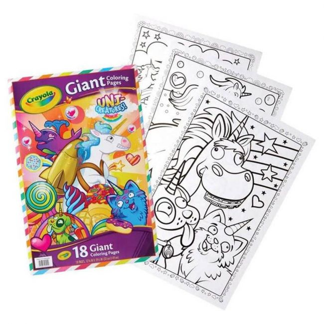 Crayola - 18 Gaint Coloring Pages Uni Creatures