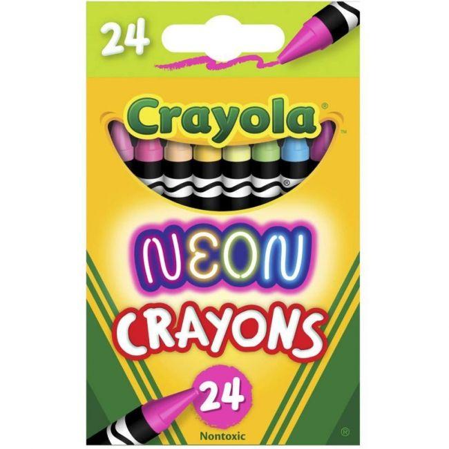 Crayola - 24 Ct. Neon Crayons