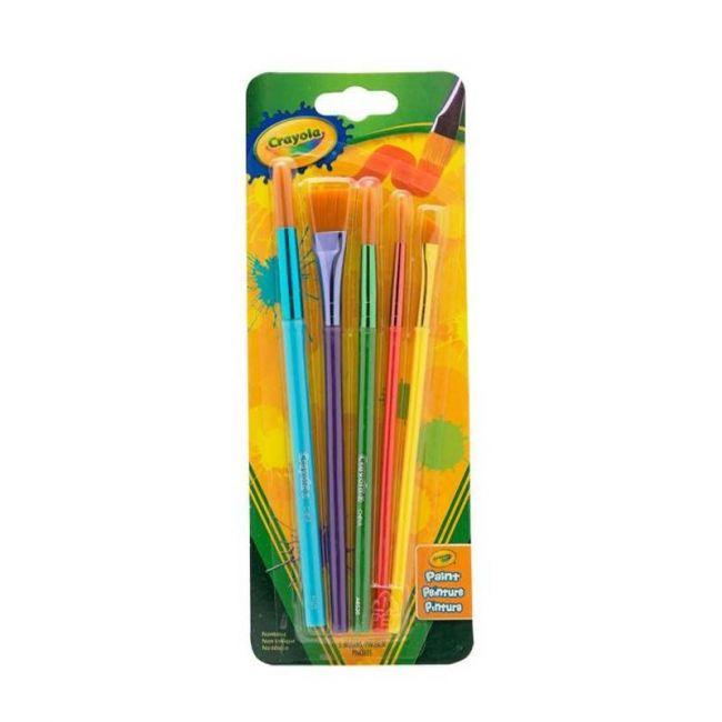 Crayola - 5 Art And Craft Brush Set