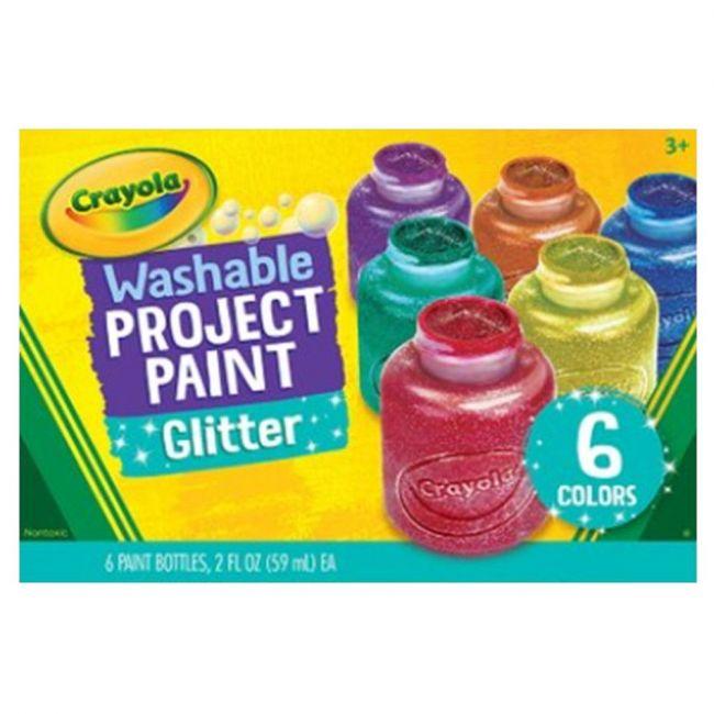 Crayola - 6 Ct. 2 Oz. Glitter Paint Set