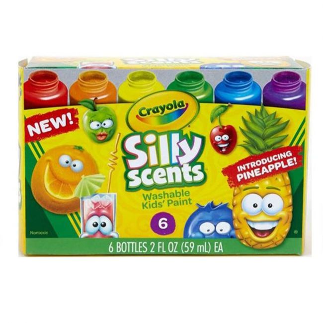 Crayola - 6 Ct. Silly Scents Washable Kids Paint