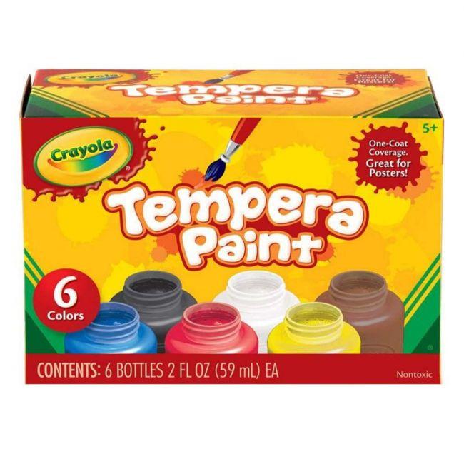 Crayola - 6 Ct. Tempera 2 Oz. Paint Set