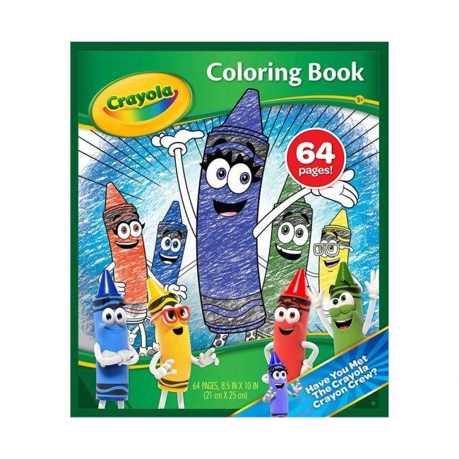Crayola - 64 Page Coloring Book Crayon Crew