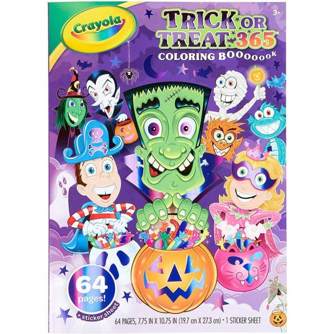 Crayola - 64 Page Coloring Book Stickers Trick Or Treat Halloween