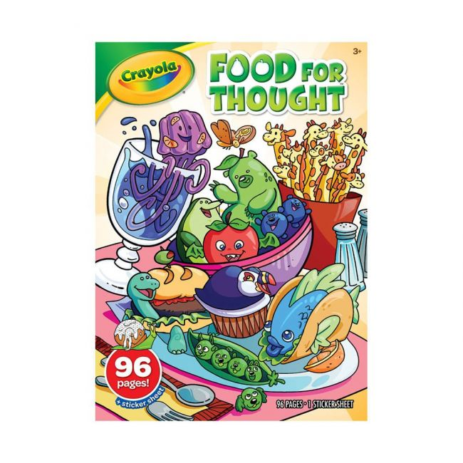Crayola - 96 Page Coloring Book Stickers Food For Thought