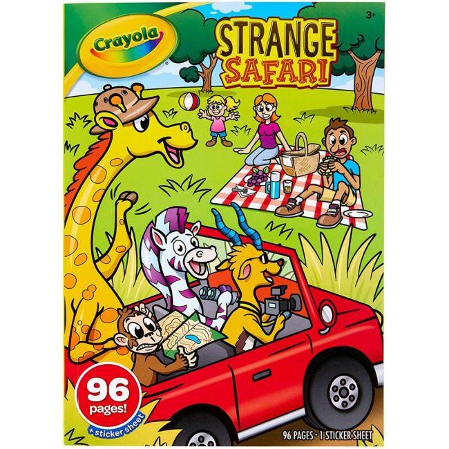 Crayola - 96 Page Coloring Book Stickers Strange Safari