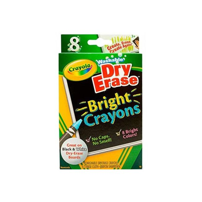 Crayola - Dry Erase Crayons Brights Large Size Pack Of 8