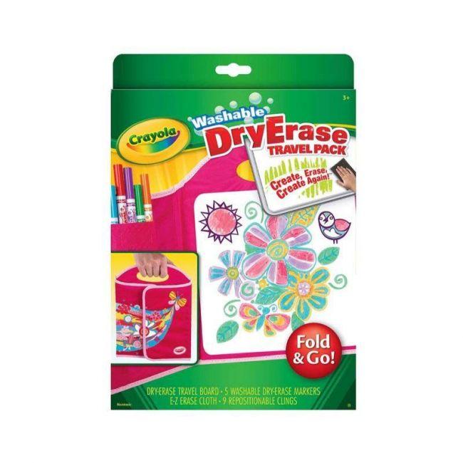 Crayola - Dry Erase Fold And Go Travel Pack
