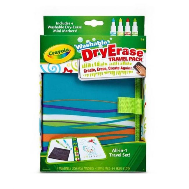 Crayola - Dry Erase Travel Pack W Dry Erase Pip Squeaks Markers