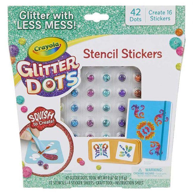 Crayola - Glitter Dots Sticker Stencils