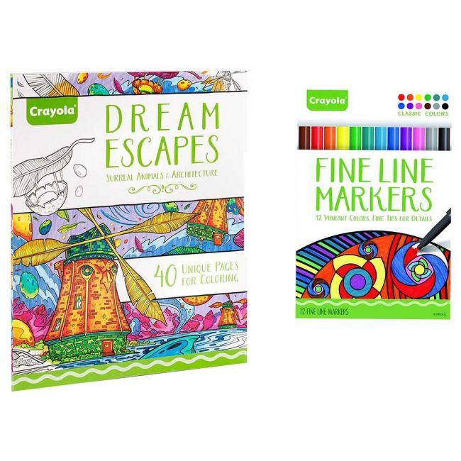 Crayola - Inspired Escapes Coloring Books