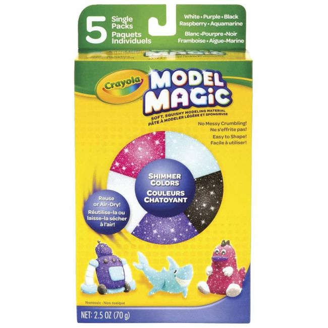 Crayola - Model Magic Shimmer Assorted Pack Of 5