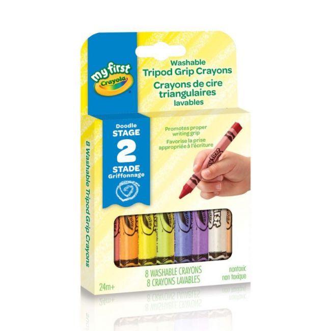 Crayola - My First Crayola - Washable Tripod Grip Crayons