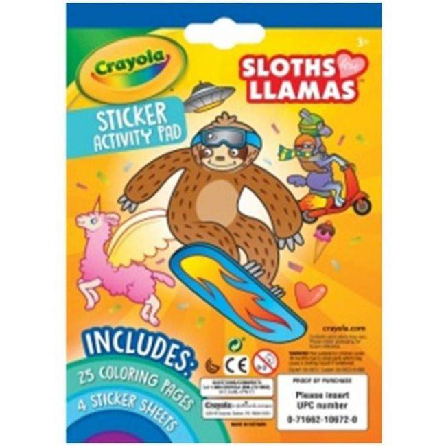 Crayola - Sloths Llamas Sticker Activity Pad