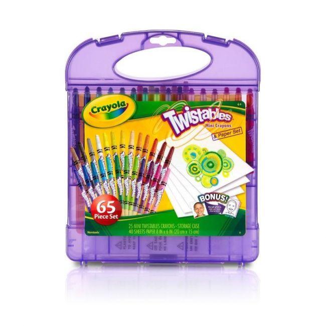 Crayola - Twistables Colored Pencils And Paper 65 Piece Set