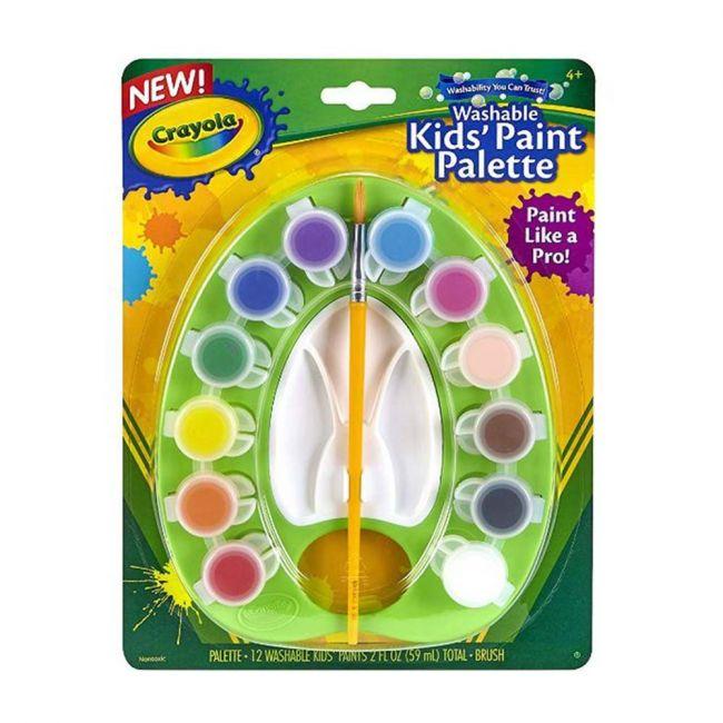 Crayola - Washable Kids Paint Pots Palette Set
