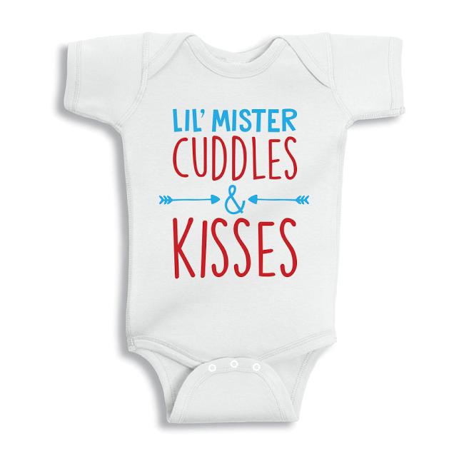 Twinkle Hands Cuddles and kisses Baby Onesie, Bodysuit, Romper